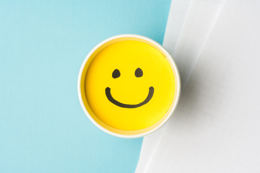 Smiley face to show great feedback