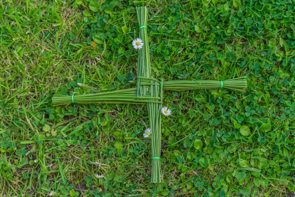 St Brigid's Cross to celebrate Imbolc