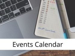 Events calendar for home page
